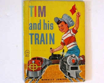 Tim and His Train - 1959 Junior Elf book - Boy - Good condition