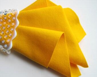 Wool Felt, Pure Merino Wool, Marigold, 18 Inch Square  (46 cm)