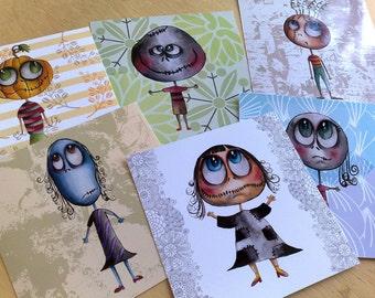 Mini Prints - The zeropumpkin characters