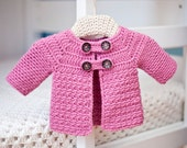 Instant download - Crochet PATTERN (pdf file) - Buttoned Jacket