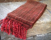Fall Japanese Maple Handwoven Scarf