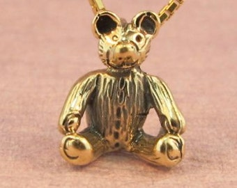 Gold Bear Necklace - Solid 14k Gold - Teddy Bear Charm Teddy Bear Necklace - Teddybear Necklace - Gold Bear Necklace - Small Gold Charm