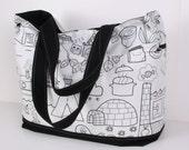Diaper Bag / Everyday Bag / Cotton lining / Shoulder Bag / Best Diaper Bag /Tote / Women Purse