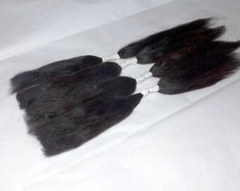 Doll Hair / combed Suri alpaca / True Black  / Soft and silky / NO  fragrance / No dye / Sample