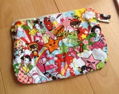 Anime inspired zipper pouch