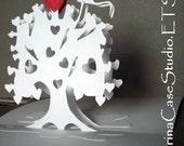 Heart Tree & Kite...Pop Up Card Art Paper Sculpture -ITEM 7810
