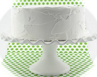 "Fake Cake ""Retro Cookbook Cake Collection"" Yummy White Cake Fab Photo Prop, Cake Plate Display 12 Legs Original"