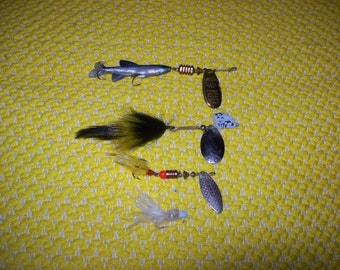 Vintage fishing lures three made in France Mepps fishing tackle