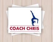 Customized Gymnastics Coach Note Card (set of 10)