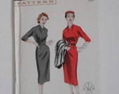 Vintage 50s Slim Dress Pattern Butterick 6701 Size 14 Bust 32 UNCUT