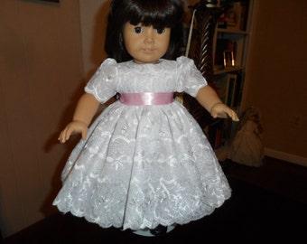 White Eyelet Dress for American Girl Doll Beautiful for Easter
