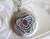 Heart, Locket, Silver Locket Necklace, Celtic Knot Jewelry, Silver Heart Locket, Irish Jewelry, Celtic Jewelry,Mother's Day,Heart Necklace x