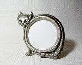 Kitty Kitty Cute and Creepy Italian Round Silver Picture Frame