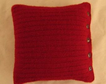 Ribbed Pillow Cover Knitting Pattern - PDF