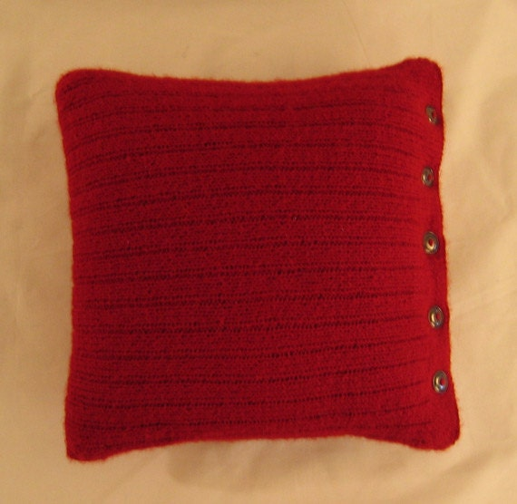 Knit Pillow Cover Pattern : Ribbed Pillow Cover Knitting Pattern PDF