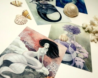 Mermaids - Set of 12 Postcards