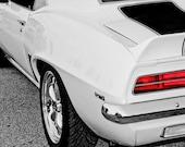White Z28 Chevrolet Camaro Fine Art Print- Photography, Car Art, Antique Car, Home Decor, Nursery Decor, Wall Art, Vintage Car, Automobile