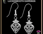 Three Thistles Tiny Luckenbooth Earrings LUK11ERH