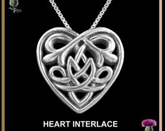 Celtic Heart Pendant, Love Symbol Necklace