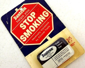 Vintage Bantron Tin - Whitey Ford - New York Yankees - Stop Smoking tablets