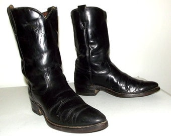 Rockabilly western Cowboy Boots size 8.5 D or womens size 10 - vintage style