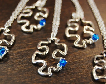 AUTISM AWARENESS - Necklace With Puzzle Pendant