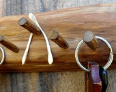 Driftwood Key rack with hand cut drift wood pegs