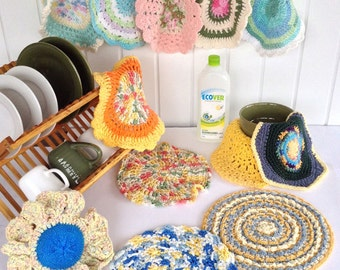 Dishcloths In The Round Crochet Pattern PDF
