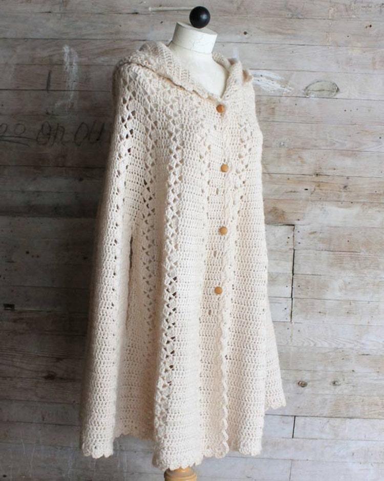long hooded cape crochet pattern pdf by maggiescrochet on etsy