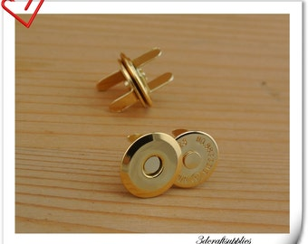 16mm super thin golden magnetic snap (strongly magnetic) 20sets F32