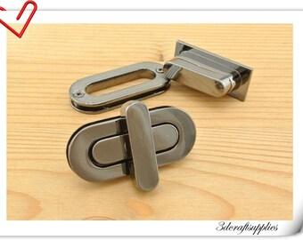 4.5cm twist-locks Purse Flip Locks puse locks Gunmetal AB36