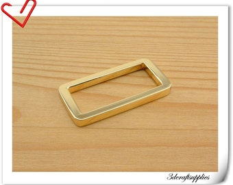 10 pieces 1.25 inch (32mm)  gold  Heavy duty alloying strap rectangle ring U100