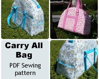 Purse pattern - Carry All Bag Pattern PDF sewing pattern handbag patterns