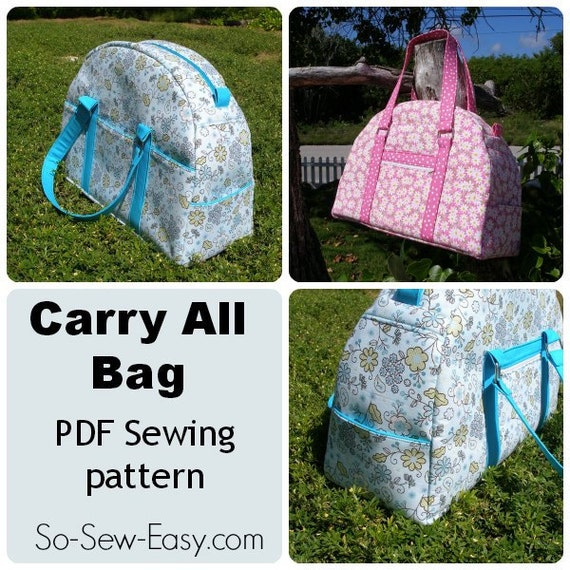 purse pattern carry all bag pattern pdf sewing pattern. Black Bedroom Furniture Sets. Home Design Ideas