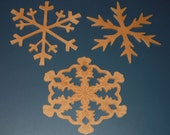 Large Snowflake Christmas Ornament Decorations - MADE TO ORDER - Set of 3  - 13102