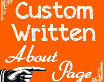 Custom About Page, Professional Writing, Etsy Marketing Tools