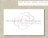 Watercolor Floral Logo Design / ready-made logo / pre made logo / watercolor hand-drawn floral background