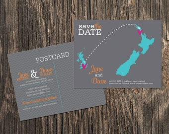 MEXICO Save the Date Postcards Set of 48 Destination Wedding