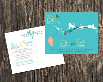 Bahamas – Save the Date – Grand Bahama Destination Wedding – Wedding Save the Dates