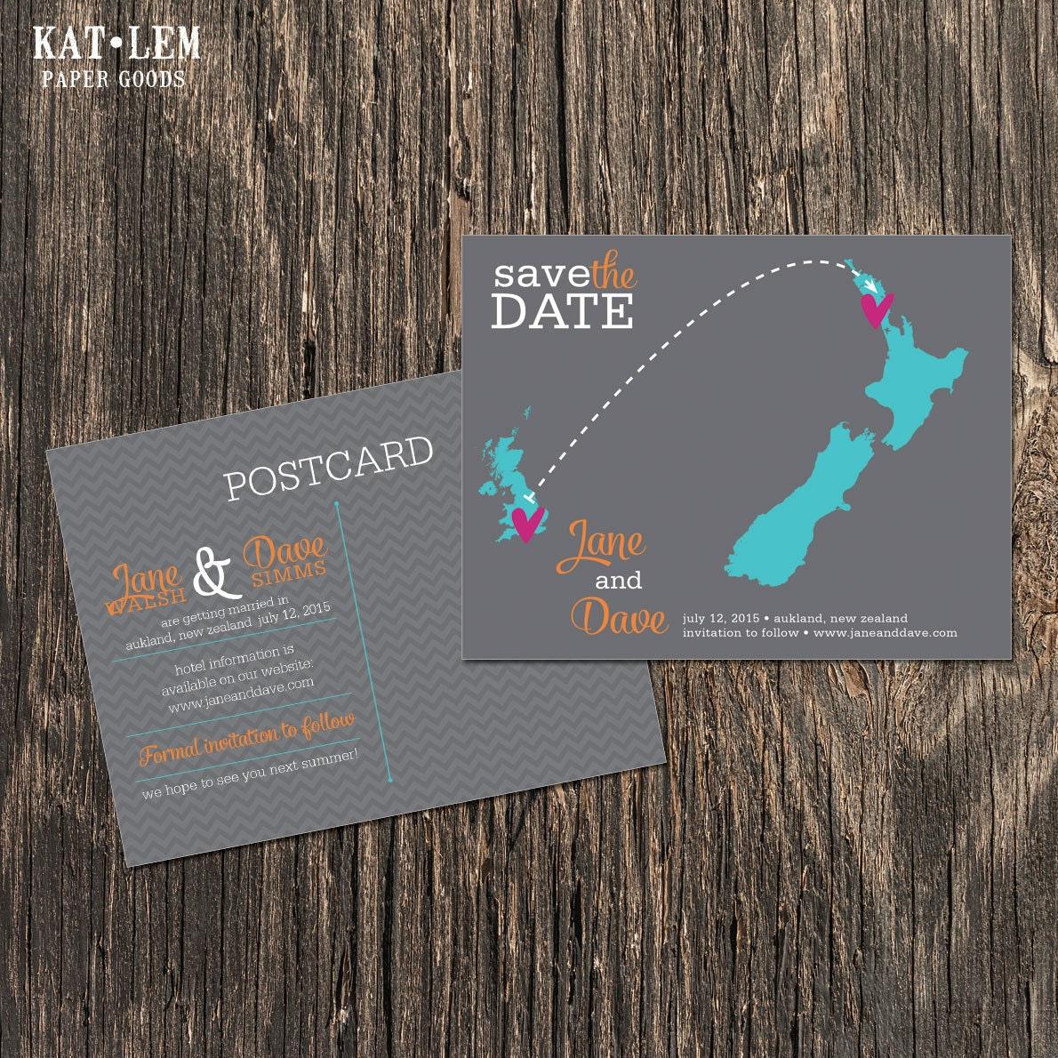 New Zealand Wedding Save The Date Destination Wedding