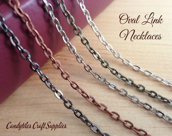 10pc...Oval Link Chain Necklaces....Mix and Match your colors...OLC24