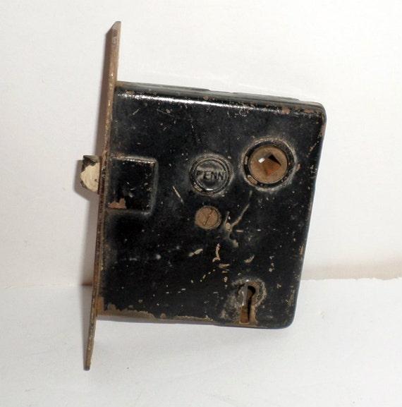 Vintage Penn Mortise Door Lock Salvaged Parts Hardware