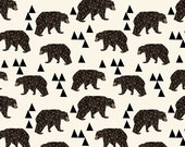 Geometric Bears Crib Sheets, Changing Pad Covers, Indie Fabric Printed Just for You