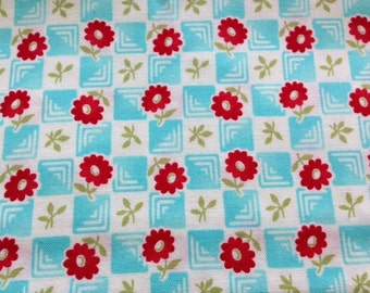 SALE. Bliss by Bonnie and Camille Checks  in Aqua