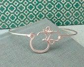Crown Chakra Bracelet in sterling silver-aum, om, yoga jewelry