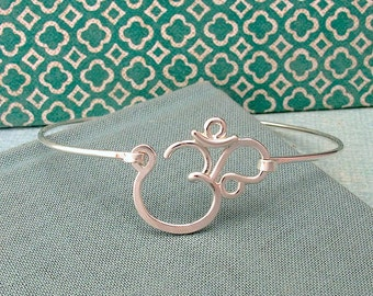 Crown Chakra Bracelet in sterling silver-aum, om, yoga jewelry