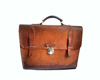 PTT French Vintage 50s Original French Postman Briefcase