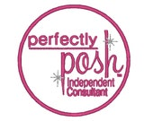 Digital Design -Perfectly Posh with circle-  Embroidery Design - 5x7