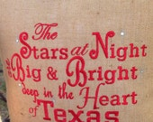 Texas Stars at Night Wedding House Warming Christmas College Birthday Mothers day Anniversary Gift