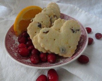 Fluted Hearts ~ Cranberry Orange Shortbread Cookies ~